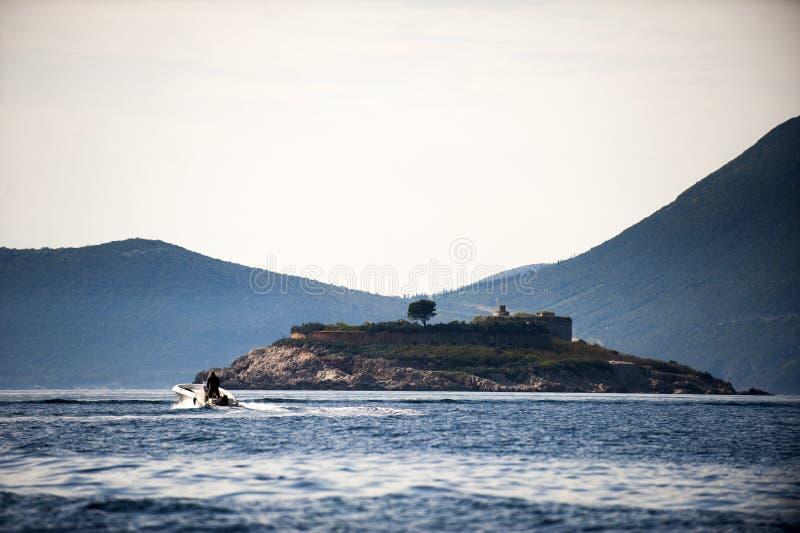 海岛Mamula 图库摄影