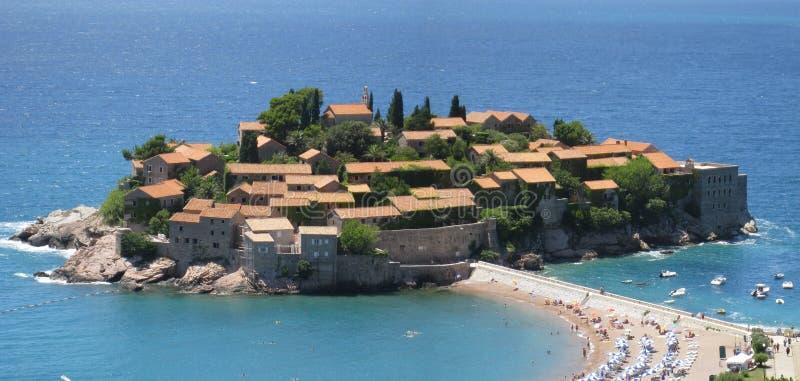 海岛montenegro 库存照片