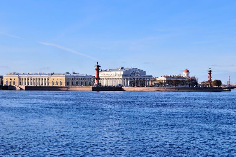海岛neva vasilevsky彼得斯堡的st 图库摄影