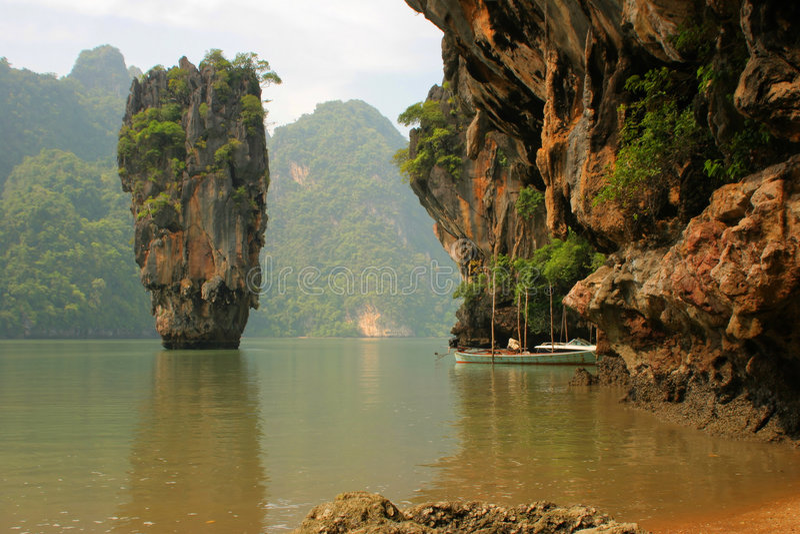 海岛nga phang泰国 免版税库存图片