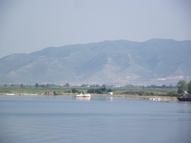 海岛Thassos,希腊人一好天儿 库存照片