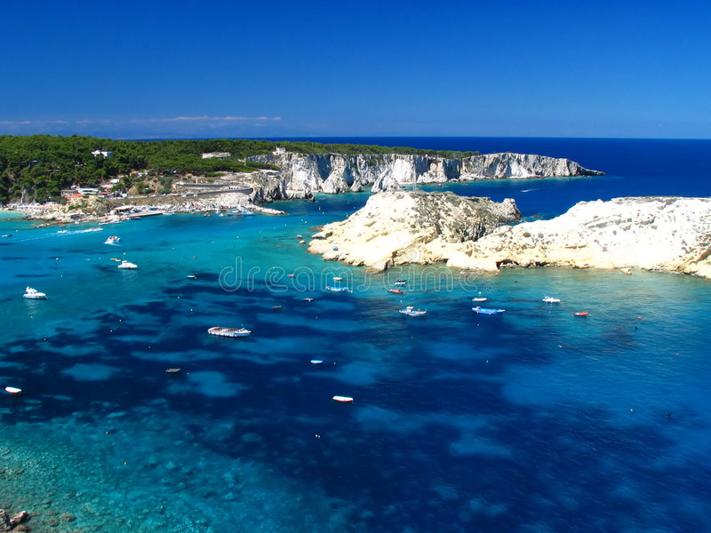 海岛tremiti 免版税图库摄影