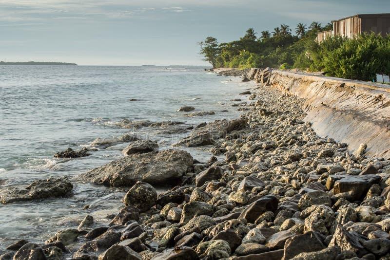 海岸侵蚀 库存图片