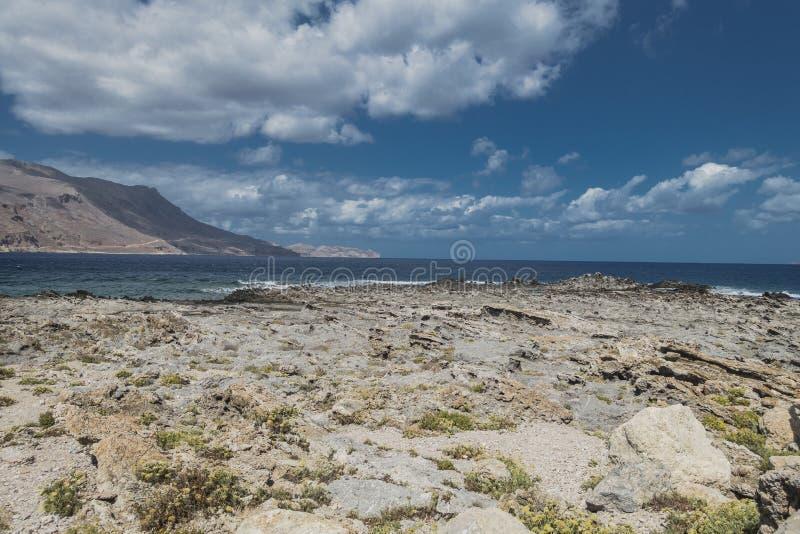 海岸克利特海岛 库存照片