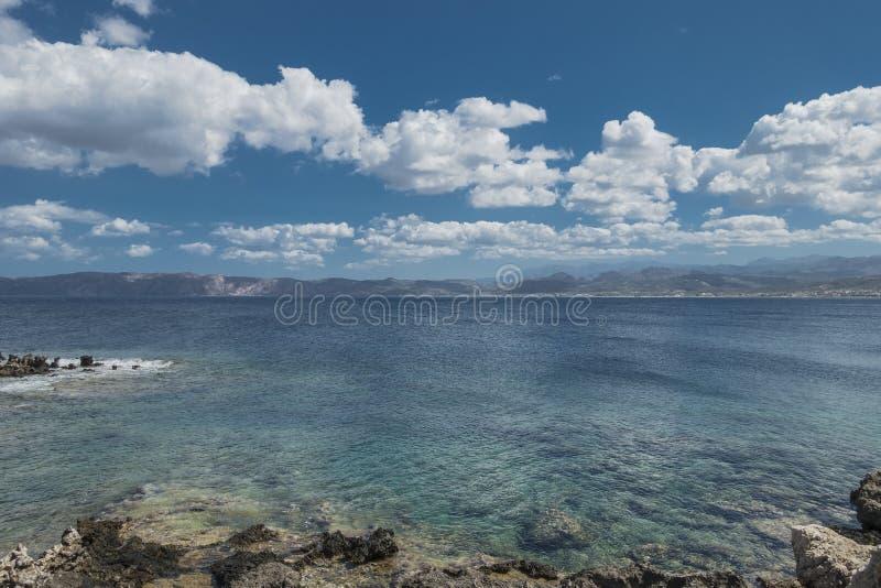 海岸克利特海岛 图库摄影