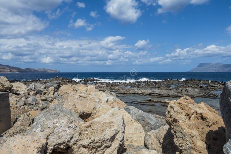 海岸克利特海岛 库存图片