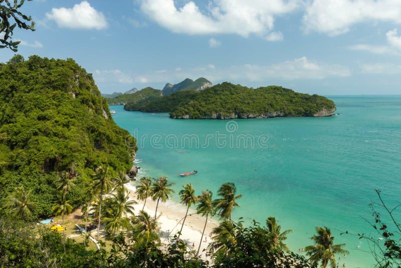 海岸公园:AngThong海洋国家公园观点 库存照片