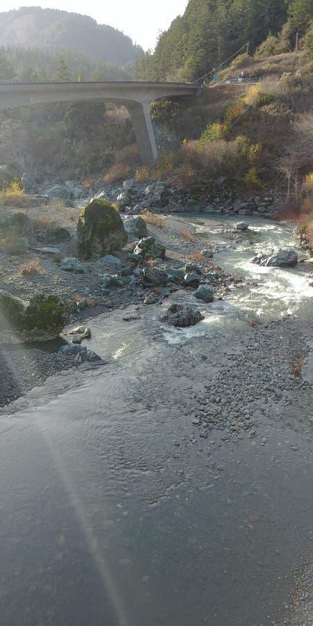海岸冰横向河水冬天 免版税库存图片