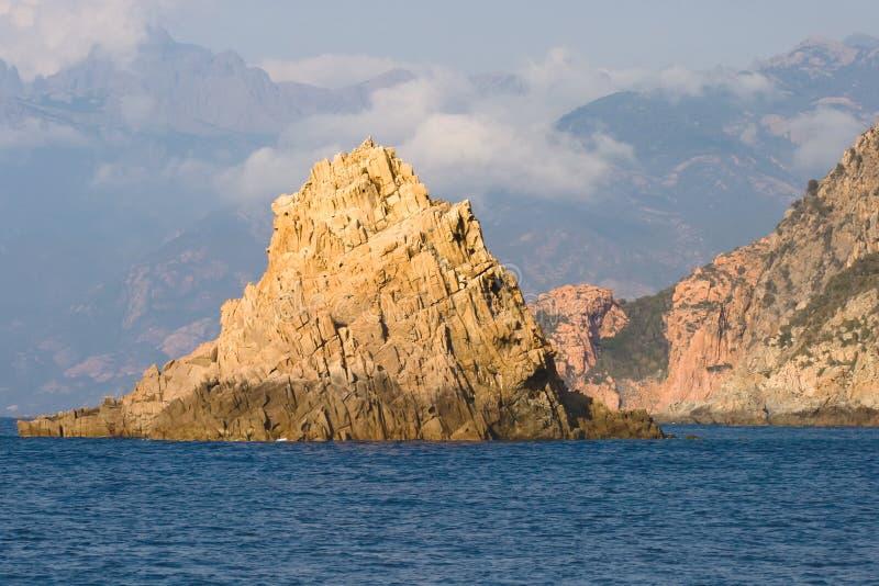 海岸地中海岩石 免版税库存图片