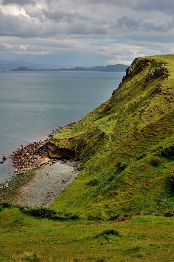 海岸坚固性苏格兰skye 免版税库存图片