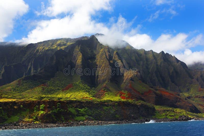 海岸夏威夷考艾岛napali 免版税库存图片
