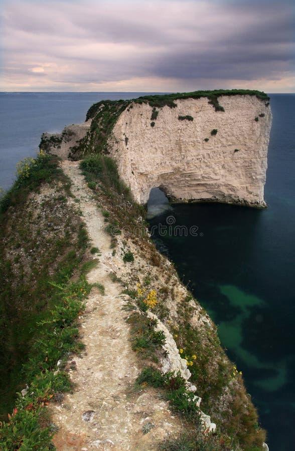 海岸多西特无处英国路径 库存图片