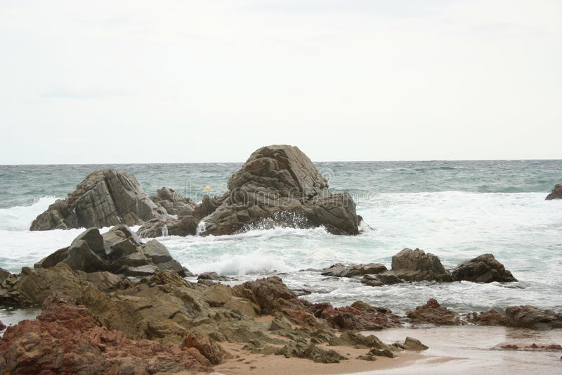 海岸岩石 库存照片