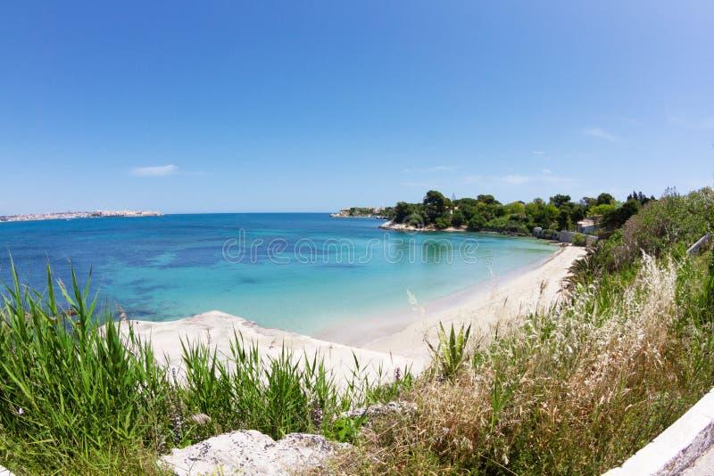 海岸意大利西西里岛siracusa 图库摄影