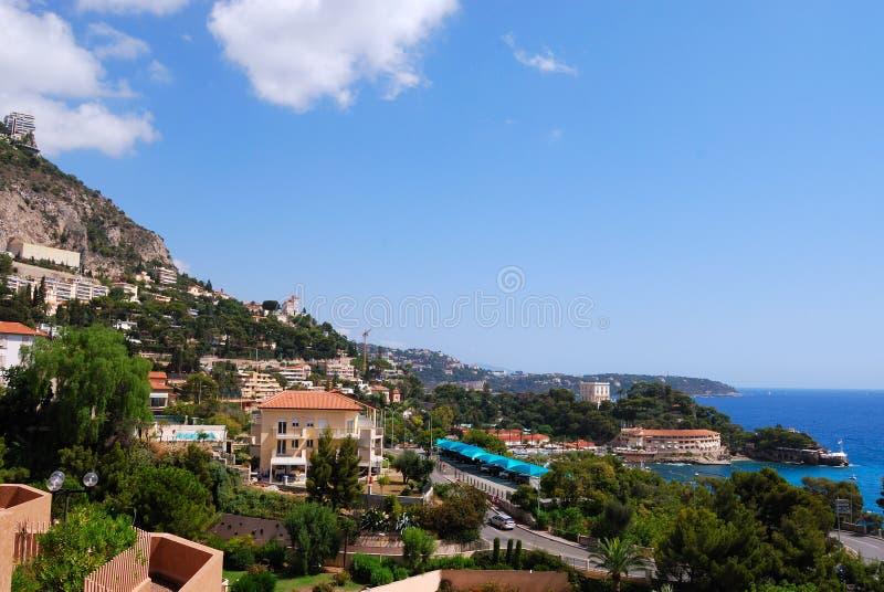 海岸法国意大利地中海摩纳哥海运 库存图片