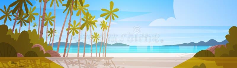 海岸海滩美好的海边风景暑假概念 皇族释放例证