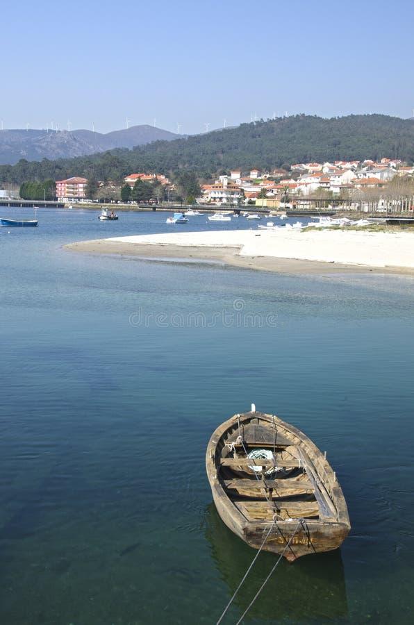 海岸的村庄 免版税图库摄影