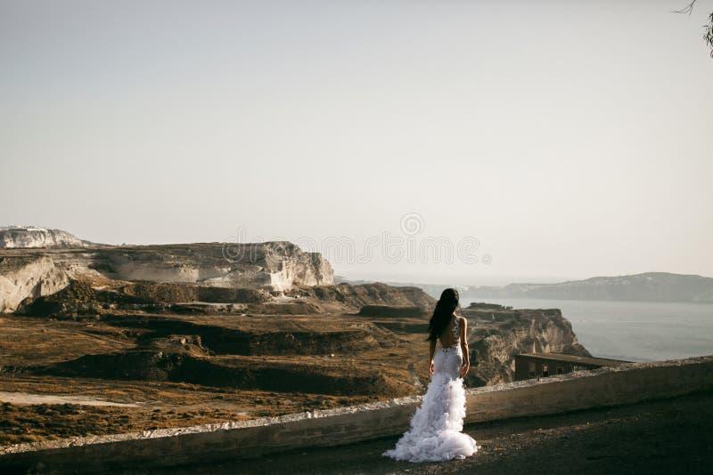 海岸的美丽的新娘 免版税库存照片