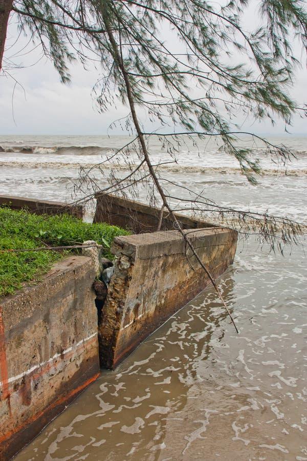 海岸破裂 免版税库存图片