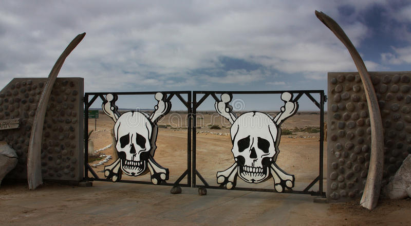 海岸纳米比亚概要 图库摄影