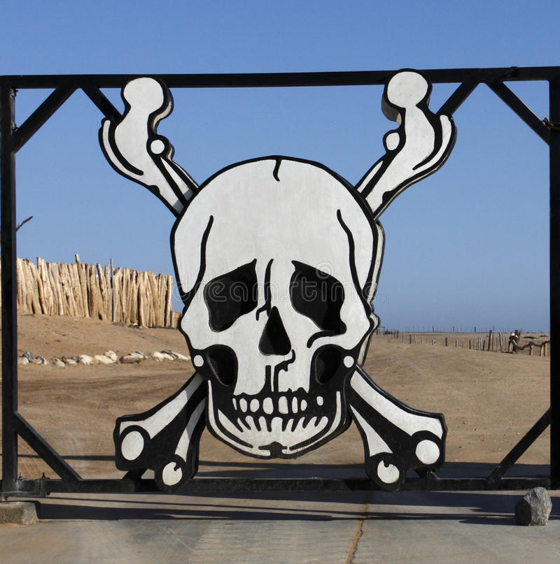 海岸纳米比亚概要 库存照片