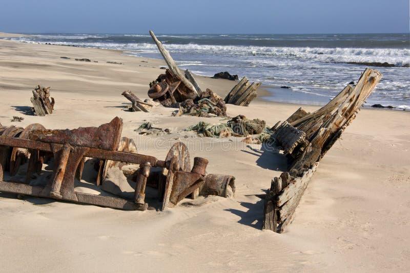 海岸纳米比亚概要 免版税图库摄影