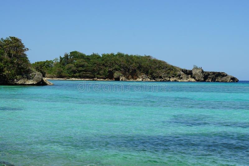 海岸线在加勒比 库存图片