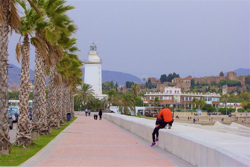海岸线在马拉加,西班牙 免版税库存图片