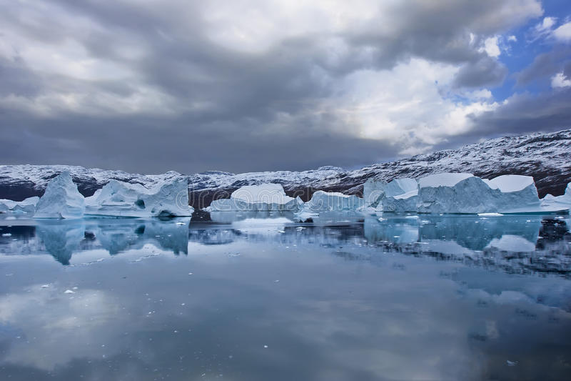海岸线格陵兰 免版税库存照片