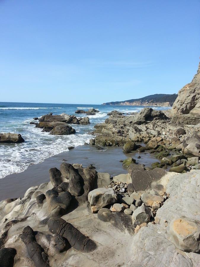 海岸线看法 库存照片