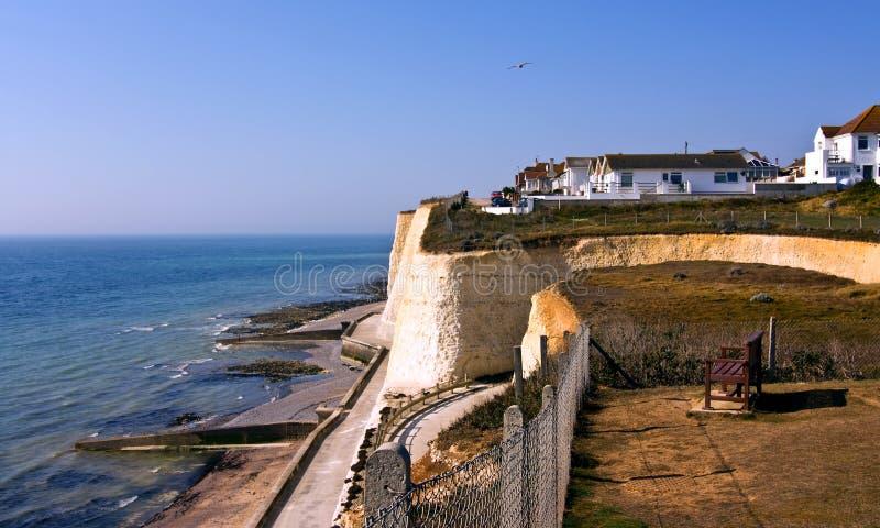 海岸线英国空白峭壁 免版税库存图片