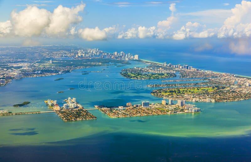 海岸线迈阿密天线  免版税库存图片