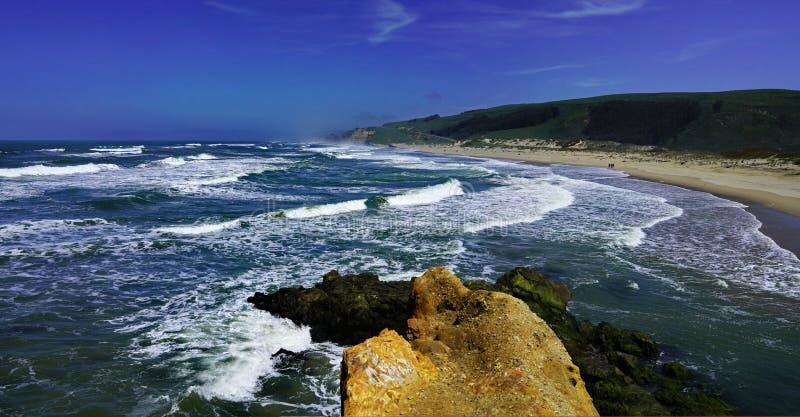 海岸线风景全景  库存照片