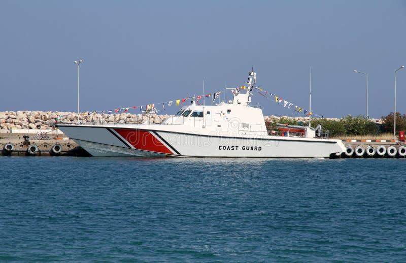 海岸警卫队小船 图库摄影