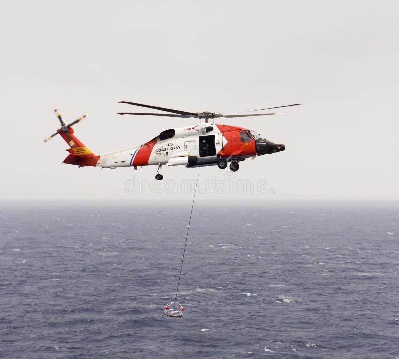 海岸警卫队直升机 免版税库存照片