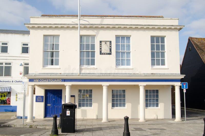 海岸警备队办公室, Poole,多西特 编辑类库存照片