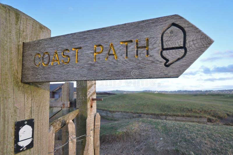 海岸道路标志 库存照片