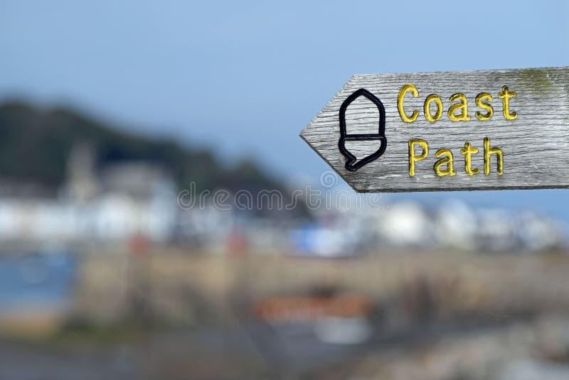 海岸道路标志 库存图片