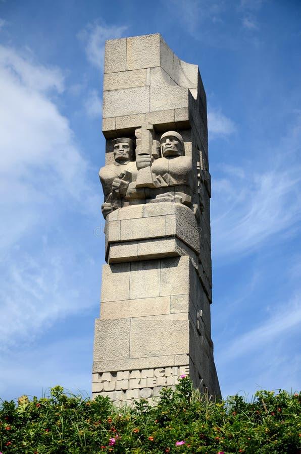 海岸防御者的纪念碑Westerplatte的 免版税图库摄影