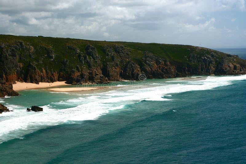海岸cornwall英国 免版税图库摄影