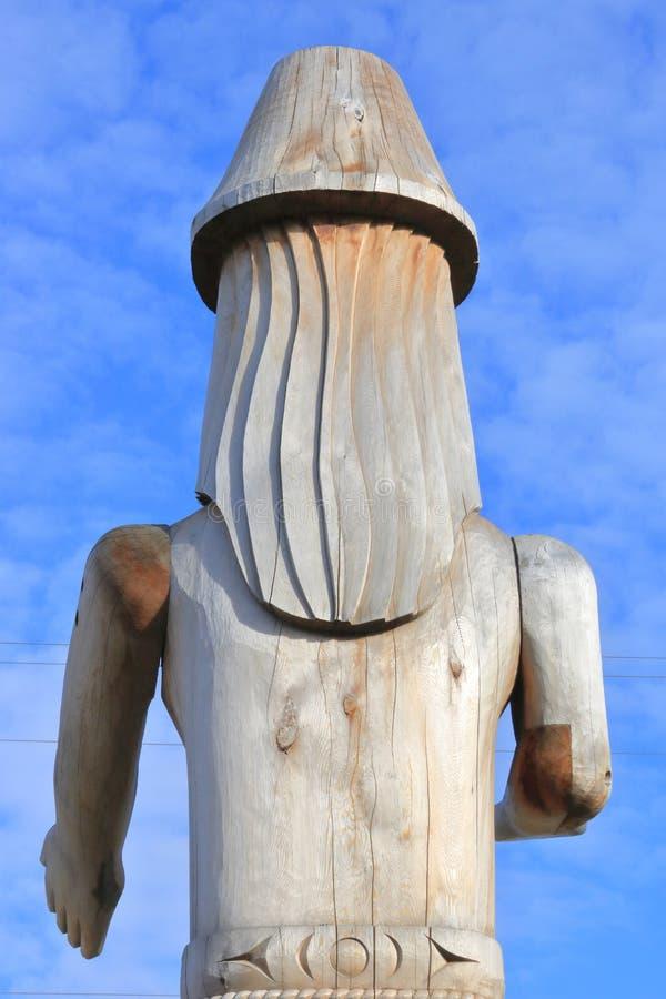 海岸Salish西海岸加拿大雕刻 图库摄影