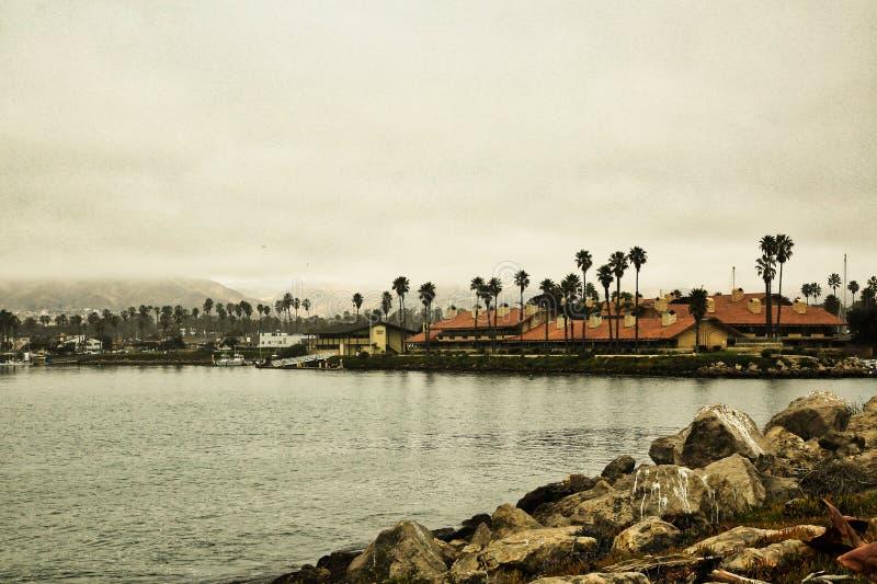 海峡群岛港口小游艇船坞奥克斯纳德加利福尼亚 免版税库存照片