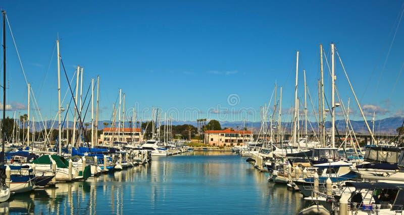 海峡群岛港口小游艇船坞Oxnard加利福尼亚 库存图片