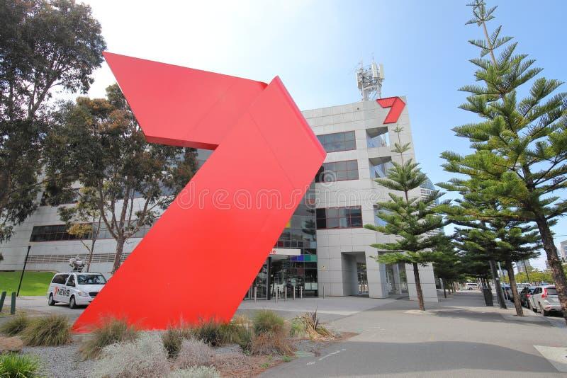 海峡7电视电视澳大利亚 免版税库存照片