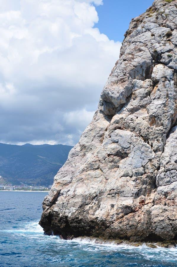 海峭壁 钓鱼地中海净海运金枪鱼的偏差 免版税库存图片
