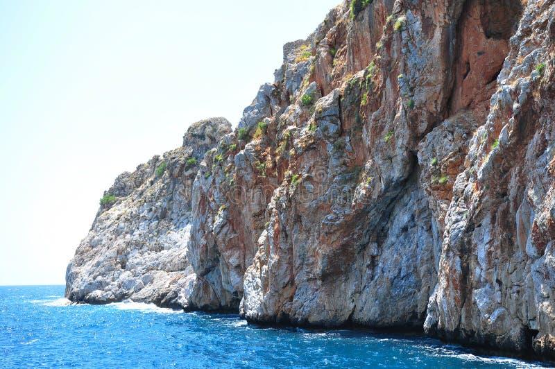 海峭壁 钓鱼地中海净海运金枪鱼的偏差 免版税库存照片