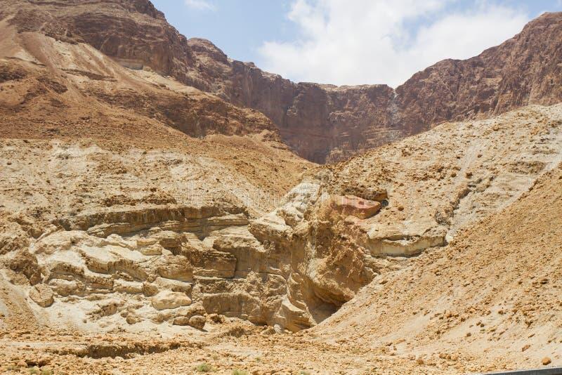 死海峭壁 库存照片