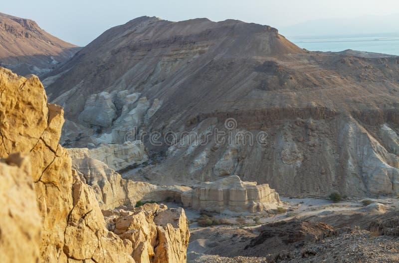 死海峭壁 图库摄影
