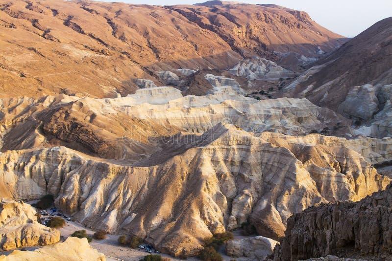 死海峭壁 免版税库存图片
