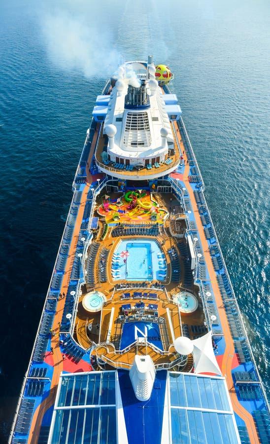 海巡航的光谱鸟瞰图  免版税库存照片